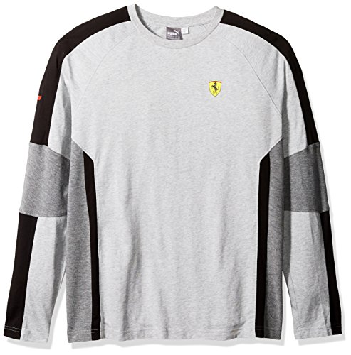 Puma Mens Scuderia Ferrari Long Sleeve Top Light Gray Heather