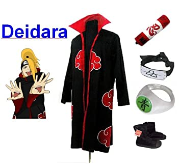 Sunkee Naruto Cosplay Akatsuki Ninja Deidara Traje--Capa ...