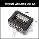 Blue Stones Mini Petty Cash Money Box Stainless Steel Security Lock Lockable Metal Safe Small Fit for House Decoration