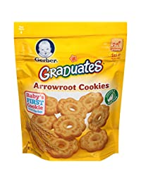 Gerber Graduates Arrowroot Cookies Pouch, 5.5 Ounce (Pack of 4) BOBEBE Online Baby Store From New York to Miami and Los Angeles