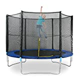 8Ft Trampoline with Enclosure Net Ladder for Home Outdoor Jumper Gymnastic Fun Exercise Rebound
