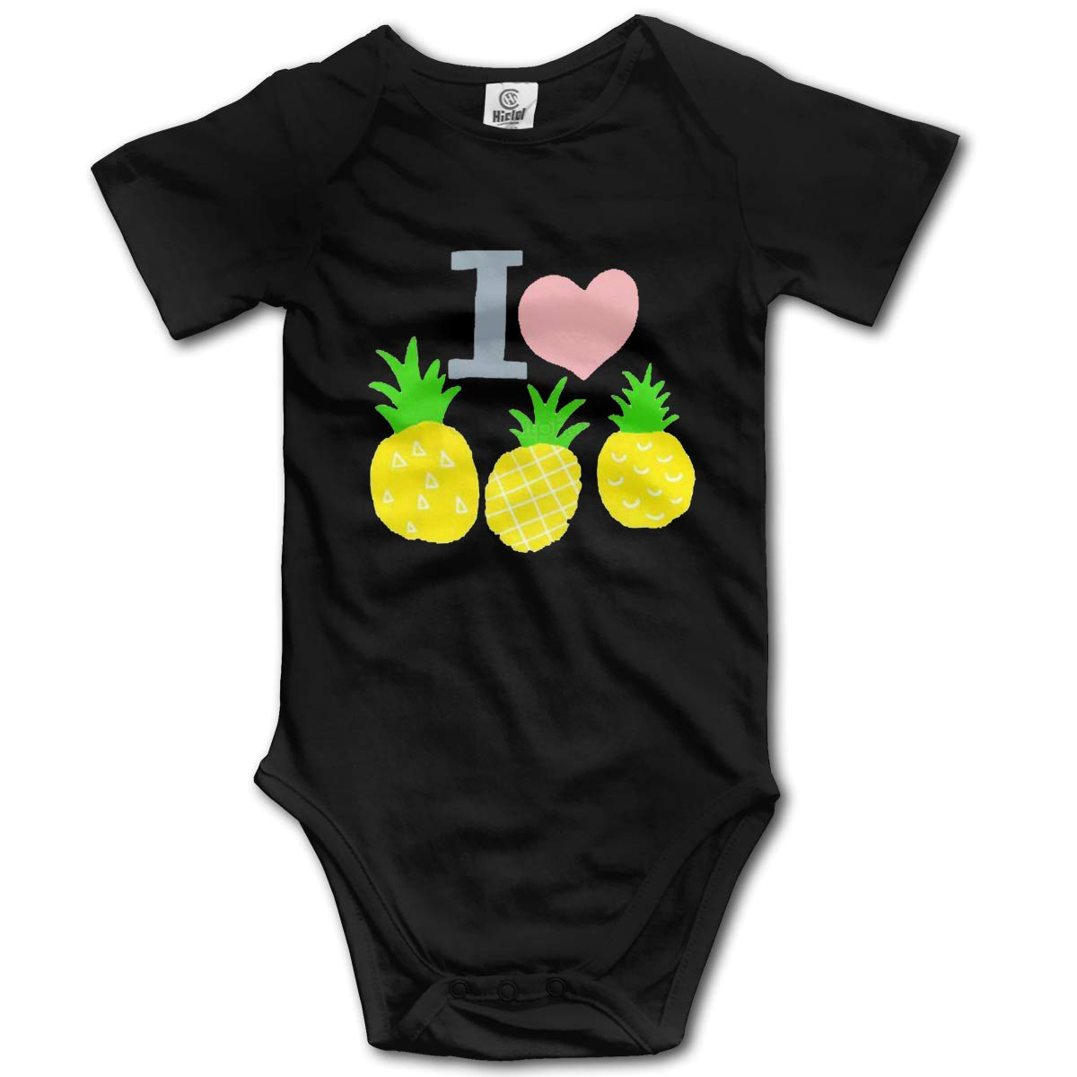 VANMASS Little Babys I Love Pineapple Short Sleeve Bodysuits Playsuit Clothes