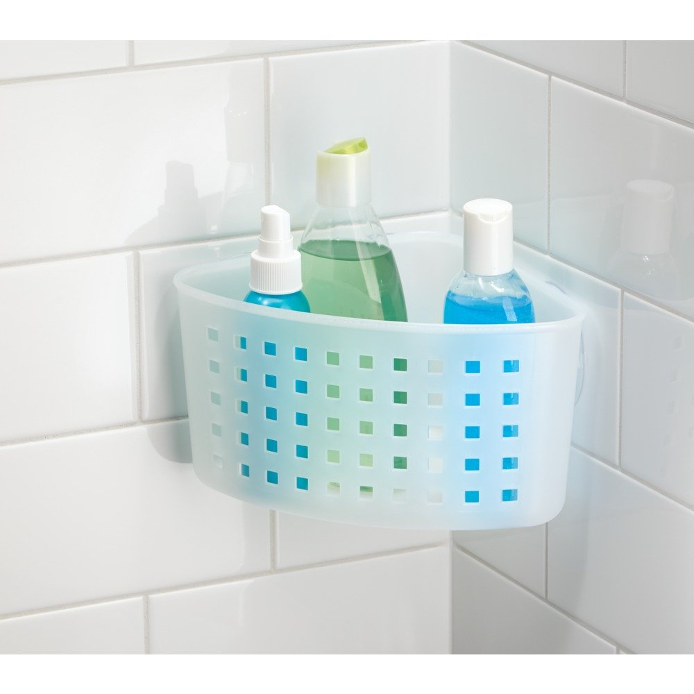 Amazon.com: InterDesign Suction Bathroom Shower Caddy Basket for ...