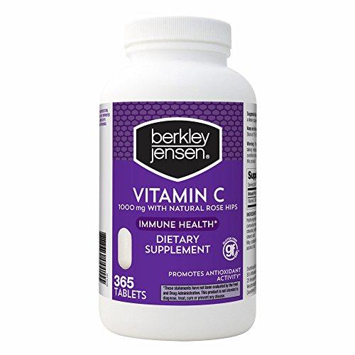 Berkley Jensen Vitamin C 1000mg W/RH, 365 ct. (pack of 6) by Berkley and Jensen