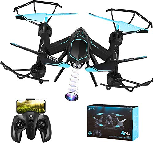 (Drone Mini Drones for Kids Beginners Remote Control Helicopter with Camera Micro rc Indoor Outdoor Live Video WiFi FPV High Tenacity Anti-Broken)