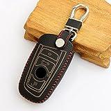 etopmia Car Remote Key Holder Case Cover,3D Wallet Key Remote Case fit BMW 2 3 4 5 6 7 Series Remote Smart Key Fob,Red Thread