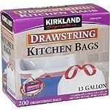 Amazon Price History for:Kirkland Signature Drawstring Kitchen Trash Bags - 13 Gallon - 200 Count