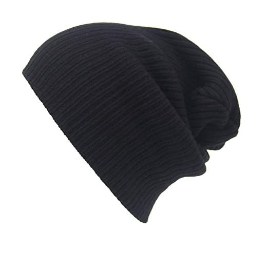 b6be5e59330a23 Image Unavailable. Image not available for. Color: URIBAKE ❤ Men's Women's Beanie  Knitted Solid Ski Cap Hip-Hop Winter Warm Unisex Wool
