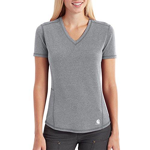 Carhartt Women's Force Ferndale Short Sleeve T Shirt, Asphalt Heather X-Large -