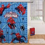 """Disney Spider Man Shower Curtain 72"""" X 72"""""""