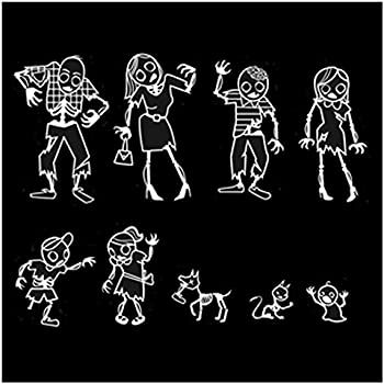 Amazoncom WE ATE YOUR STICK FAMILY Decal Zombies Window Funny - Vinyl decals for your caramazoncom your stick family was delicious trex vinyl decal