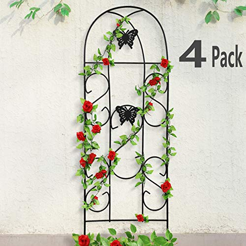 4 Pack Garden Trellis for Climbing Plants 60