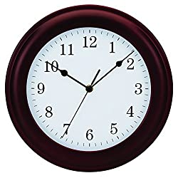 Tempus® Traditional Wood Wall Clock, 12, Mahogany