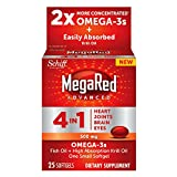 MegaRed Advanced 4in1 500mg, 25 softgels – Concentrated Omega-3 Fish & Krill Oil Supplement Review