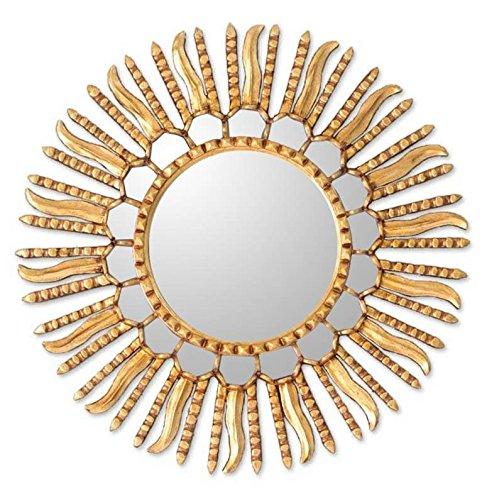 NOVICA MI0067 Summer Sun' Mirror - Mirror Golden Sun