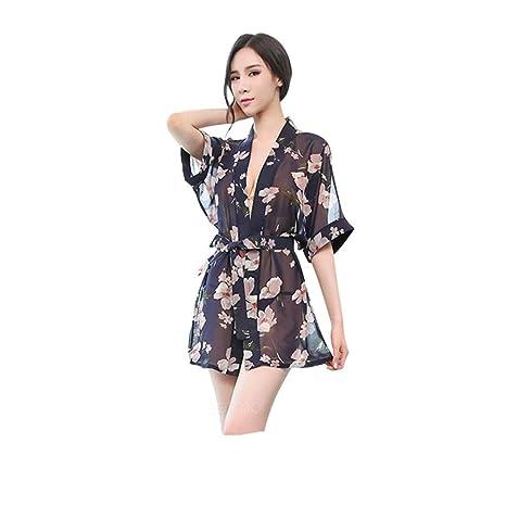 Ropa Interior Europea Y Americana - Gasa Sexy De Mujer Transparente Floral - Camisón De Pijama