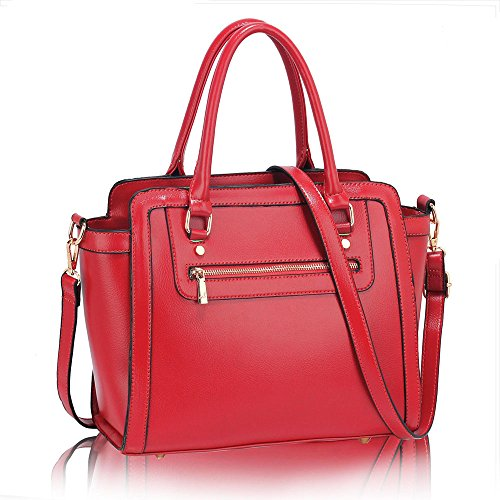1 Medium Handbags Faux Style Ladies Design Womens Size Bags Tote Shoulder Leather Pink New Celebrity qYxRnF5OwZ