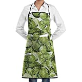 Grill Aprons Kitchen Chef Bib - SarahKen Petals Spikes Sun And Flowers In A Hot Mexican Desert Nature Beauty Professional For BBQ Baking Cooking For Men Women Pockets