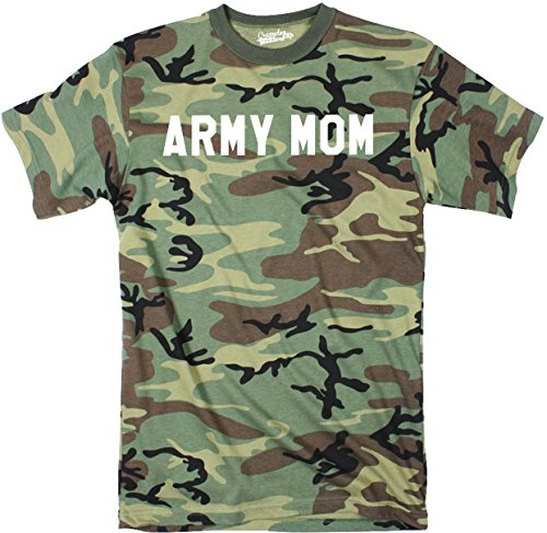 Crazy Dog TShirts - Unisex Army Mom Full Camouflage Print Hunting USA Military T shirt (Camo) - herren -
