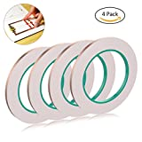 YoungRich 4 Pack Copper Foil Tape Conductive Adhesive for Electrical Repairs EMI Shielding Paper Circuits Craft Projects Pest Repelling Slug Snail 5mm25m
