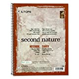 TOPS 74111 Second Nature Subject Wirebound Notebook, 11 x 8 1/2, White, 80 Sheets