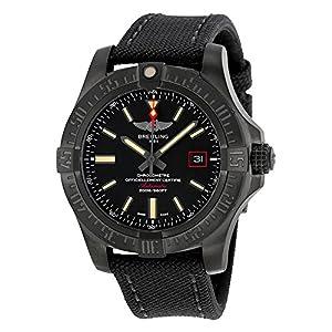 Breitling Avenger Blackbird Automatic Black Dial Titanium Mens Watch V1731110-BD74GCVT