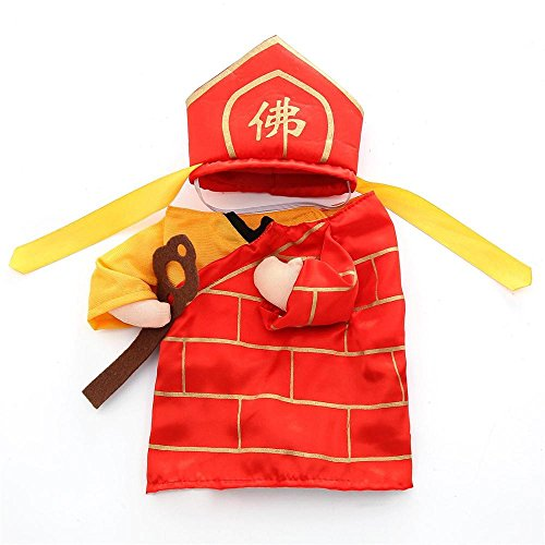 D-ModernPet Dog Costume - Funny Pet Costumes The Mad Monk Buddha Cosplay Suit Clothes for Dogs Cats Halloween Xmas Apparel Costume for a cat]()