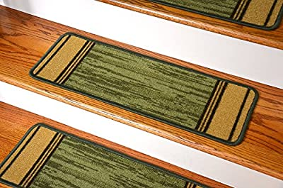 Washable Non-Skid Carpet Stair Treads - Boxer Green (13)