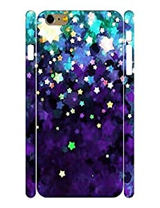 Fantastic Series Cell Phone Case With Neon Stars Printed Hard Plastic Case Cover for Iphone 6 (4.7-inch) wangjiang maoyi