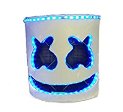 unbrand Halloween DJ Máscara LED Full Head Casco Adulto ...