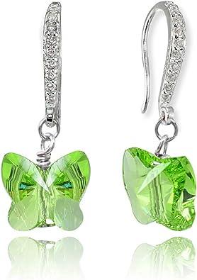 Gold Plated Earrings Beautiful Dangle Earrings for Women Iolite Quartz Earrings Girls 925 Stearling Silver Bezel Earrings