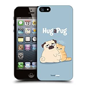 Head Case Designs Hug Piper The Pug Protective Snap-on Hard Back Case Cover for Apple iPhone 5 5s