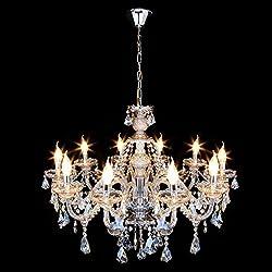 Ridgeyard Cognac10 Lights Modern Luxurious K9 Crys