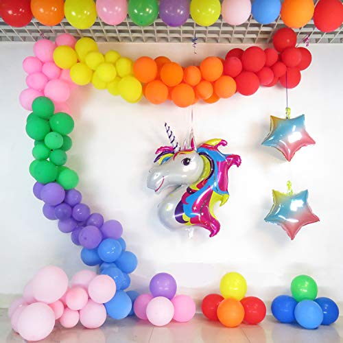 Balloon Garland Rainbow Unicorn Arch Kit 16Ft Long Colorful Latex Balloons Pack for Baby Shower Wedding Birthday Bachelorette Party Background Decorations]()