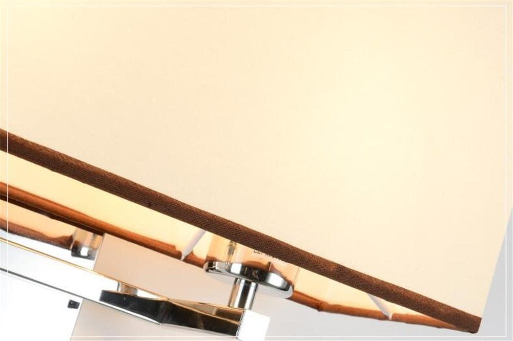 Appliques Murales Moderne E27 H/ôtel Style Chevet Double T/ête Tissu Abat-Jour Acier Inoxydable Lampe Murale Avec R/églable 1 W LED Lecture Lumi/ère Et Commutateur Pour Salon Chambre D/écoration /Éclairage