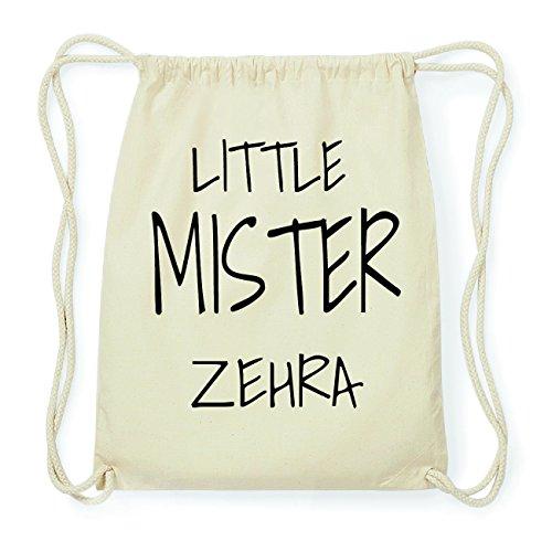 JOllify ZEHRA Hipster Turnbeutel Tasche Rucksack aus Baumwolle - Farbe: natur Design: Little Mister