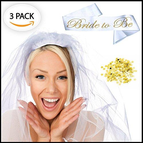 Bride to be Sash, Bridal Veil and Gold
