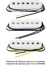 FLEOR soporte de poste Juego de pastillas de 5pickupfor Single Coil Strat estilo guitarra pastilla de repuesto