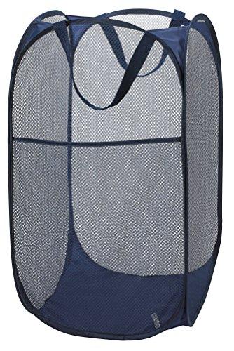 Deluxe Pop-up Laundry Hamper (Navy Blue)