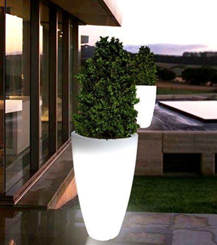 Toscana Light 70 oder 90 cm Beleuchteter Pflanzkübel Pflanztopf