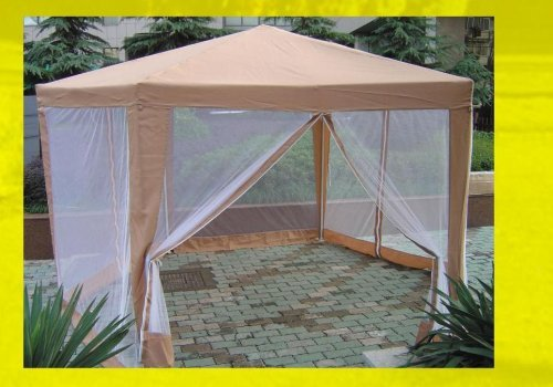 Hexagonal Gazebo 2 X M With Insect Screen Side Panels