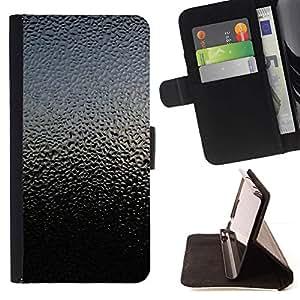 For Sony Xperia M2 Case , Cielo Naturaleza vidrio Gotitas de la lluvia Reflexión- la tarjeta de Crédito Slots PU Funda de cuero Monedero caso cubierta de piel