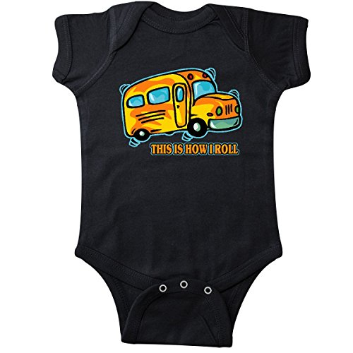 inktastic - How I Roll School Bus Infant Creeper 6 Months Black 27d30