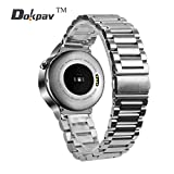 Huawei Watch Band, Dokpav® Quick-Release Watch Band Strap Stainless Steel Watch Band for Huawei Smart Watch Classic Buckle Wrist Watch Strap- Silver