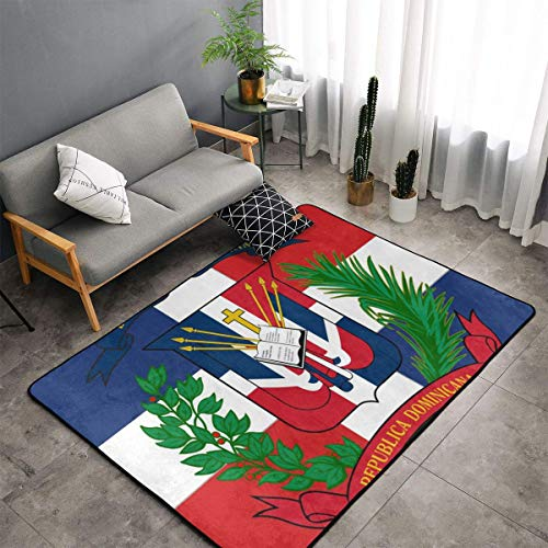 LIN. Bedroom Livingroom Sitting-Room Big Size Area Rug Home Decor - Dominican Republic Flag Floor Mat Doormats Fast Dry Toilet Bath Rug Exercise Mat Throw Rugs Carpet