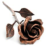 Handcrafted Metal Rose (Copper Stained) - Romantic