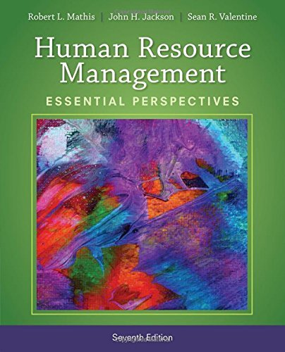 By Robert L. Mathis Human Resource Management: Essential Perspectives (7th Seventh Edition) [Paperback]