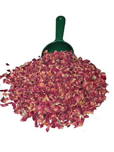 Dried Rose - Alive Herbal Organic Dried Red Rose Buds And Petals, Food Grade Non-GMO, Vegan & Kosher 4 OZ.