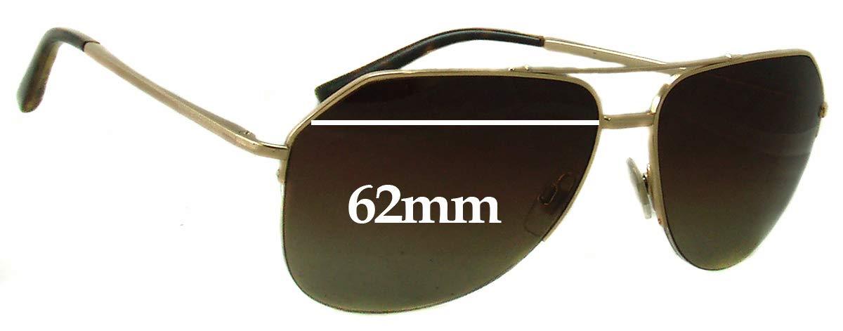 SFX Replacement Sunglass Lenses fits Dolce /& Gabbana DG2111 62mm Wide