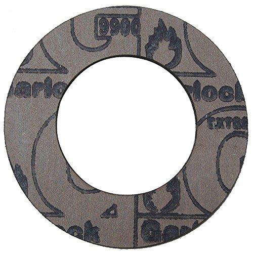 Garlock/EnPro Industries - 9900RG-0150-062-0800 - Graphite with Nitrile Binder Flange Gasket, 11 Outside Dia, Mahogany (pkg of - Flange Pkg Gasket